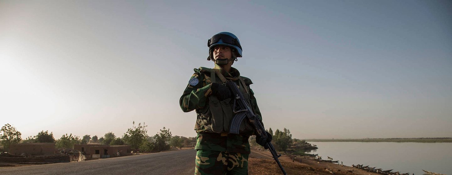 A Bangladeshi contingent on patrol in the Central African Republic, one of 10 peacekeeping missions where Bangladeshis are serving under the UN flag.