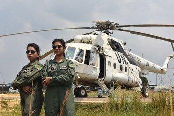 En 2017, le Bangladesh a envoyé deux femmes pilotes de combat au sein de la Mission de l'ONU en République démocratique du Congo (MONUSCO).