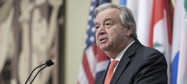 联合国秘书长古特雷斯。
