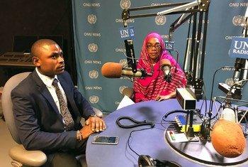 Josephat Mwamba Mtwana na Fatuma Zuga Abddallah wakati wakihojiwa na Idhaa ya Kiswahili baada ya kushinda tuzo yao ya Equator inayotolewa na UNDP