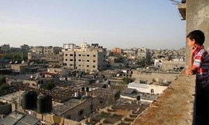 Vista del campo de refugiados de Jabalia, el mayor de la Franja de Gaza.