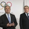 Secretary-General António Guterres (left) and Thomas Bach, President of the IOC, hold a joint press encounter at the IOC office in Pyeongchang, Republic of Korea.