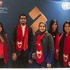 شباب من البحرين في معرض جائزة الملك حمد لتمكين الشباب في الأمم المتحدة