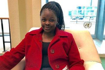 Brenda Kimwatan, mwakilishi wa vijana katika Model UN 2018 na mwanafunzi kutoka Kenya ambaye anasoma Chuo Kikuu cha Cape Town nchini Afrika Kusini.