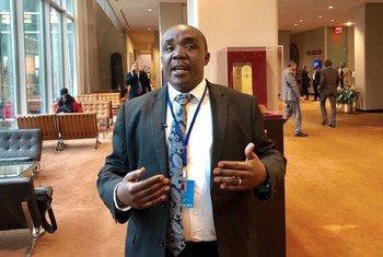 Jude Njomo, mbunge kutoka Kenya mwanachama wa IPU akihojiwa na Idhaa ya Kiswahili ya UN