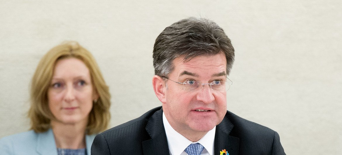 Miroslav Lajčák, President of the General Assembly of the United Nations at the 37th Session of the Human Rights Council, Palais des Nation.