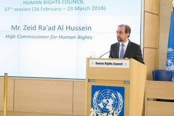 Верховный комиссар ООН Зейд Раад аль-Хусейн выступил на открытии 37-ой сессии Совета ООН по правам человека