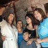 La directora ejecutiva de UNOPS, Grete Faremo, visita el barrio de La Corcova, donde UNOPS lleva a cabo un proyecto para mejorar las condiciones de vida en Argentina