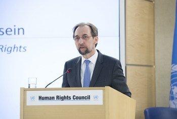 Верховный комиссар ООН Зейд Раад аль-Хусейн на открытии сессии Совета ООН по правам человека