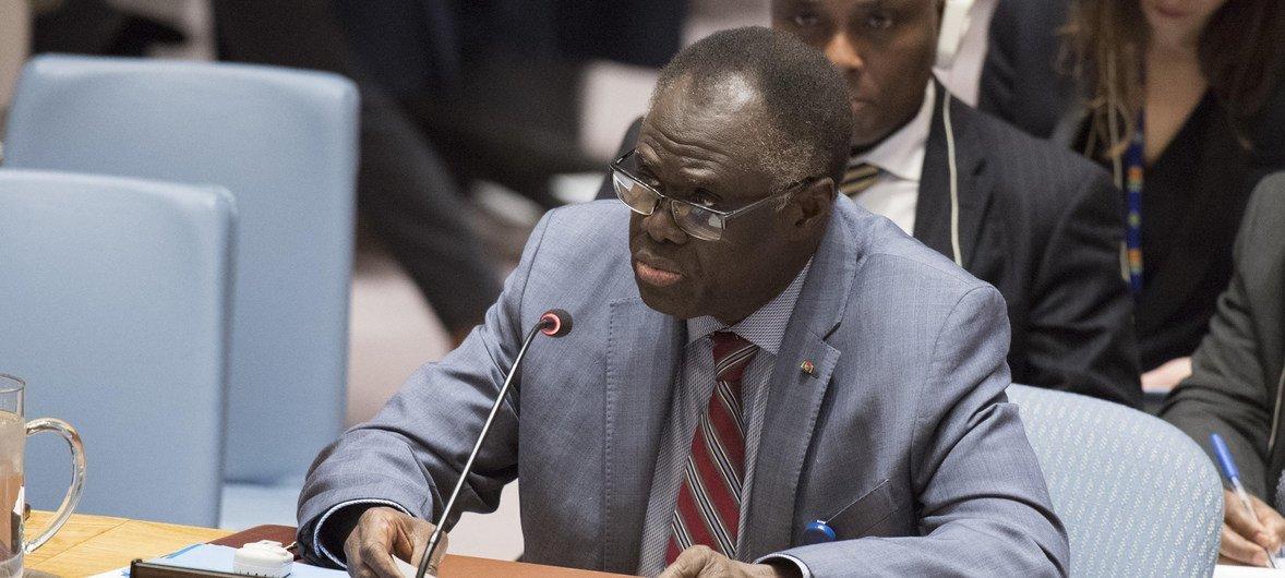Michel Kafando, Envoyé spécial du Secrétaire général pour le Burundi, informe le Conseil de sécurité sur la situation au Burundi (archive)