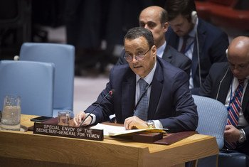 Ismail Ould Cheikh Ahmed, the Secretary-General's Special Envoy for Yemen, briefs the Security Council.