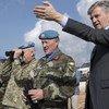 2018年2月24日,联合国负责维和行动的副秘书长拉克鲁瓦先生与联黎部队特派团团长兼部队指挥官贝里少将(Major General Michael Beary)讨论黎巴嫩南部蓝线沿线的局势。