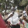 Mshiriki anatoa ujumbe wake katika mjadala kwenye kipindi cha radio Sudan Kusini