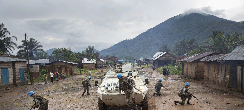Boinas-azuis da Missão de Paz das Nações Unidas na República Democrática do Congo, Monusco.