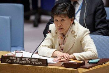 أرشيف: إيزومي ناكاميتسو الممثلة السامية لشؤون نزع السلاح في إحاطتها أمام مجلس الأمن الدولي.