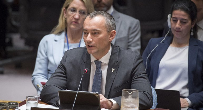 Nickolay Mladenov, UN Special Coordinator for the Middle East Peace Process, briefs the Security Council.