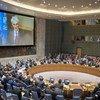 مارك لوكوك منسق الأمم المتحدة للإغاثة الطارئة خلال إحاطته عن الوضع في سوريا أمام مجلس الأمن الدولي