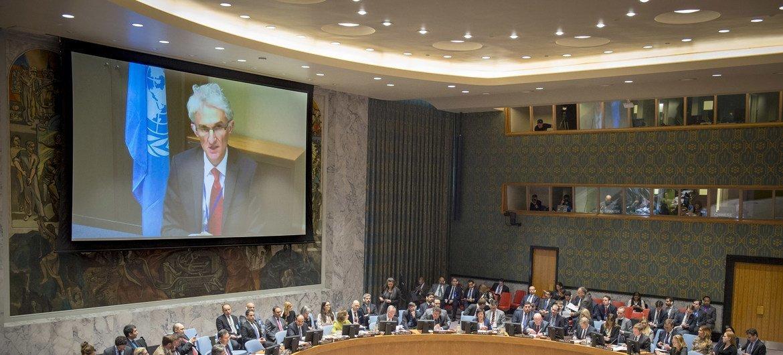 Координатор чрезвычайной помощи Марк Локок на заседании Совета Безопасности ООН по Восточной Гуте