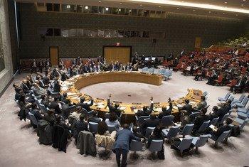 Le Conseil de sécurité vote une résolution sur le Yémen le 26 février 2018.