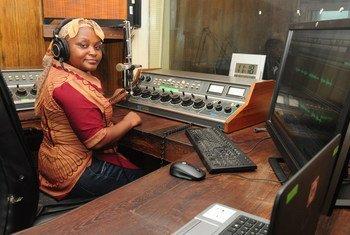 Gracida Caramage, jornalista desportiva da Rádio Moçambique.