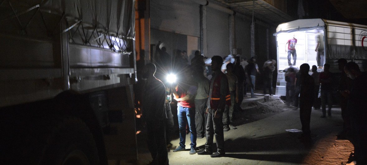 UN, partners complete first aid delivery in months to Syria's war-battered east Ghouta