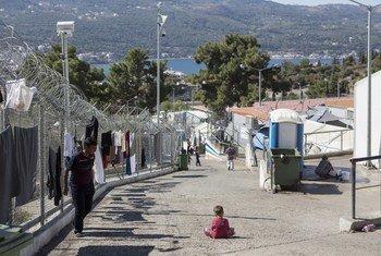 Центр размещения беженцев на греческом острове Самос