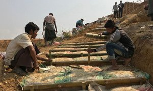 Bangladesh. Monsoon rains in could put protection of Rohingya refugees at risk