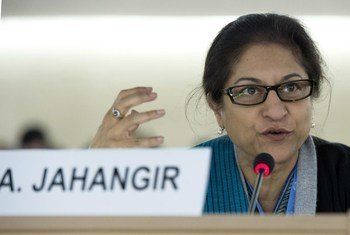 Special Rapporteur on the human rights situation in Iran Asma Jahangir.