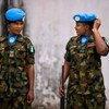 Forças de paz nigerianas em Monrovia, na Libéria.