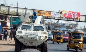 Миротворцы из Нигерии первыми прибыли в состав Миссии ООН в Либерии