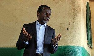 Parfait Onanga-Anyanga, alors qu'il était le Représentant spécial du Secrétaire général pour la République centrafricaine.