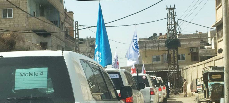 Ajuda humanitária da ONU chega ao sul da Síria.