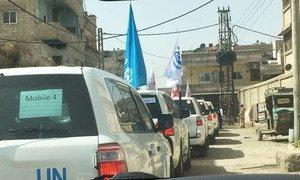Un convoi de l'ONU transporte des produits de santé et de nutrition pour des milliers de personnes dans le besoin en Syrie (archive).