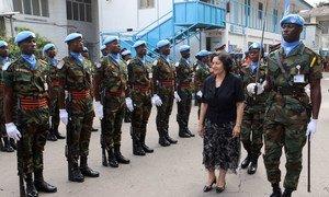 La Représentante spéciale du Secrétaire général en République démocratique du Congo et Cheffe de la MONUSCO, Leila Zerrougui, à Kinshasa.