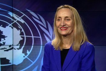 Cornelia Richter, Vice-President of the United Nation's International Fund for Agricultural (IFAD), at UN studios in UN Headquarters in New York.