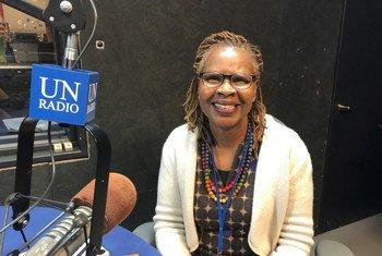 Susan Kaaria, afisa na kiongozi mwenza wa usawa wa kijinsia na uwezeshaji wanawake kwenye shirika la FAO, akihojiwa na UN News wakati wa mkutano wa CSW62, New York Marekani.