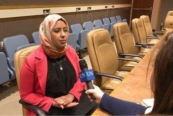 نجلاء حمدي مديرة إدارة البرامج في إذاعة ليبيا الوطنية