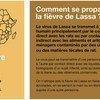 La sensibilisation fait partie des efforts menés par l'OMS pour lutter contre la fièvre de Lassa.