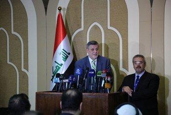 الممثل الخاص للأمين العام في العراق يان كوبيش، يهنئ الأحزاب السياسية على توقيع ميثاق الشرف الانتخابي