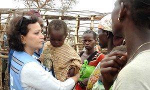 UN Humanitarian Corrdinator Najat Rochdi's visit to the Mission in Kaga Bandoro, Nana Gribizi Prefecture, Center of Central African Republic (15 April 2017).