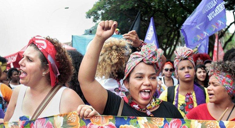 Демонстрация в защиту прав женщин