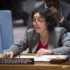 Leila Zerrougui, Special Representative and Head of the UN Stabilization Mission in the Democratic Republic of the Congo (MONUSCO), briefs the Security Council.