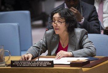 La Représentante spéciale du Secrétaire général pour la République démocratique du Congo, Leila Zerrougui, devant le Conseil de sécurité.