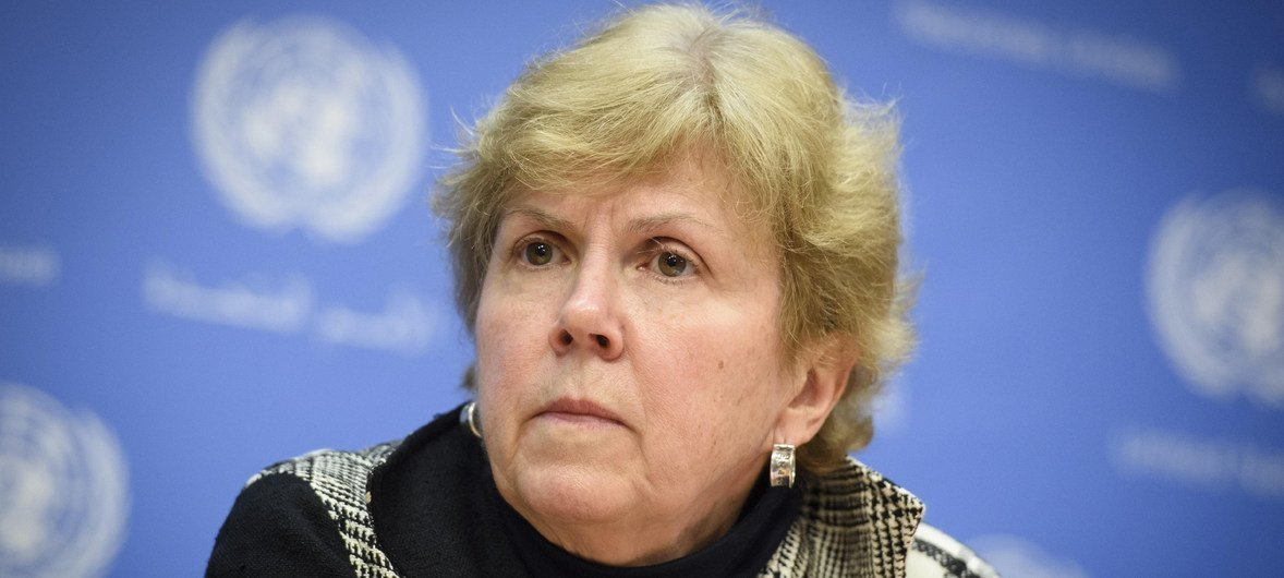 Jane Holl Lute, the Special Coordinator on Improving the United Nations Response to Sexual Exploitation and Abuse, briefs journalists at Headquarters.