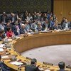 Wide view as Jonathan Guy Allen, Deputy Permanent Representative of the United Kingdom to the UN, addresses the Security Council meeting considering the letter dated 13 March 2018 from the UK to the Council regarding the 4 March chemical attack in Salisbury.