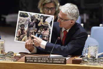 Mark Lowcock, el secretario general adjunto sobre asuntos humanitarios, informa al Consejo de Seguridad después de su misión a la República Democrática del Congo.