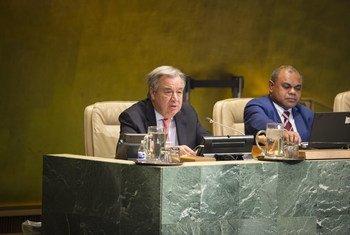 António Guterres reuniu-se com o diretor-geral da Opaq na sede da ONU em Nova Iorque.