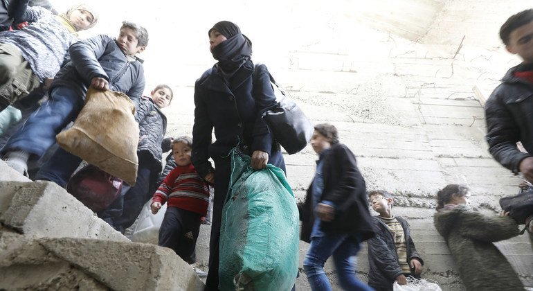 Displacement surges as twin military offensives drive thousands from Afrin and east Ghouta – UN