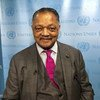 """Rev. Jesse Jackson at UN Headquarters in New York after speaking at an event celebrating """"A Decade of Recognition for the Contributions, Achievements and Challenges of People of African Descent Worldwide."""""""