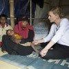 Embaixadora da Boa Vontade do Acnur, Cate Blanchett, em Cox's Bazar, no Bangladesh.